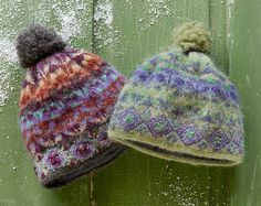Arctic Sun Hat - Ombré-patterned, fleece-lined mohair hat inspired by striking, winter sunsets.