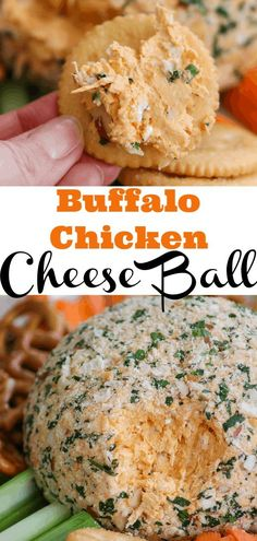 Buffalo Chicken Cheese Ball on a cracker. : Buffalo Chicken Cheese Ball on a cracker. Yummy Appetizers, Appetizers For Party, Appetizer Recipes, Snack Recipes, Chicken Appetizers, Cheese Appetizers, Party Dips, Chicken Dips, Fruit Recipes
