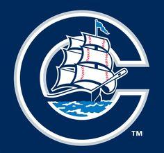 Columbus Clippers Cap Logo on Chris Creamer's Sports Logos Page - SportsLogos. A virtual museum of sports logos, uniforms and historical items. Hockey Logos, Sports Team Logos, Logo Design, Graphic Design, Football, Baseball, Columbus Ohio, Man Cave, Club