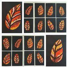 Best 10 Autumn Aboriginal leaf art…in progress! Lesson idea from 🎨arted – SkillOfKing. Fall Art Projects, School Art Projects, Autumn Crafts, Autumn Art, 2nd Grade Art, Jr Art, Classroom Crafts, Kindergarten Art, Middle School Art