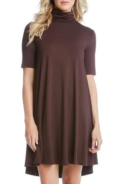 Karen Kane 'Maggie' Turtleneck Trapeze Dress