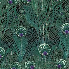 """Alexander Henry Lake Lawn Regent Peacock Jade -- a real gem. You must see and touch these to really appreciate the fine quality of the printing and the cloth. A 'Liberty' style lawn with a cool silky touch. Exquisite 100% cotton, 44"""" wide."""