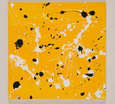 12x12 ORIGINAL Abstract Acrylic Paint Splatters Painting on Canvas by DarciGerhard on Etsy