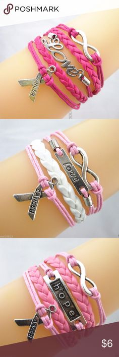 Breast Cancer Infinity Bracelet Brand new item. Jewelry Bracelets