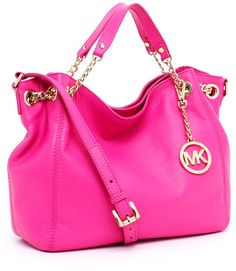Michael Koras pink purse... Nothing every goes wrong with MK ever!