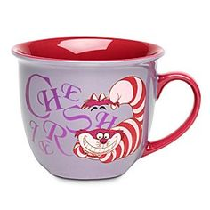 Disney Cheshire Cat Mug with Lip   Disney StoreCheshire Cat Mug with Lip - One sip from the Cheshire Cat's lipped mug will bring method to your madness all day long!