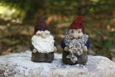 Original Gnome Needle Felting Kit  Earth Tones by goinggnome