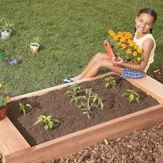 Garden Bed | Kids' Woodworking Projects - Small Woodworking Craft Projects for Kids | FamilyFun