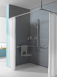 ideas shower remodel handicap for 2019 Ada Bathroom, Handicap Bathroom, Bathroom Colors, Shower Remodel, Bath Remodel, Disabled Bathroom, Shower Grab Bar, Elderly Home, Bathroom Furniture