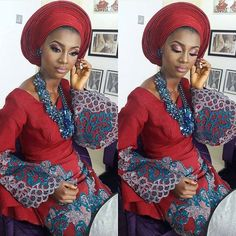 Absolutely gorgeous.❤ #africansweetheartweddings #nigerianwedding #bride
