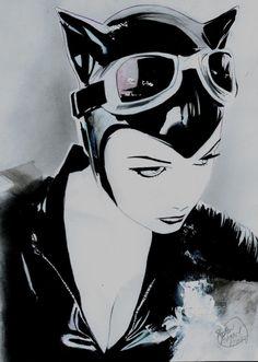 Catwoman Original Comic Art by Shelton Bryant | eBay