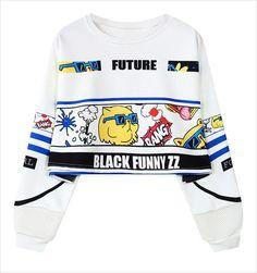 woman's sweatshirt letters sexy crop top punk hip-hop hoody large size fashion feminino moleton