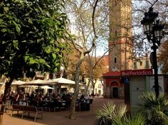 """""""Plaça de la Vila de Gracia"""" is, in my opinion, one of Barcelona's most beautiful and charming squares. It used to be a village once, and still is pretty. Places In Spain, Places To Go, Barcelona Architecture, Local Tour, Tourist Trap, Barcelona Travel, Tour Guide, Most Beautiful, Tours"""