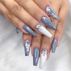 Trendy Coffin Nail Designs to Inspire You ★ See more: https://naildesignsjournal.com/coffin-nail-designs-inspiration/ #nails