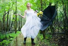 A Rainy Wedding Day Means Good Luck for the Bride and Groom — Little White Dress Bridal Shop White Bridal Dresses, Little White Dresses, Elegant Wedding Dress, Casual Wedding, Bridal Gowns, Wedding Gowns, Wedding White, Wedding Venues, Rain On Wedding Day