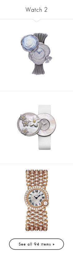 """""""Watch 2"""" by rin-kute ❤ liked on Polyvore featuring jewelry, watches, bracelets, gioielli, cartier wrist watch, water resistant watches, analog watches, cartier jewelry, cartier crown and accessories"""