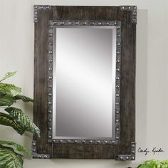Uttermost Malton Rustic Wood Mirror