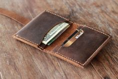 Treasure Chest Bifold Wallet A Leather Wallet Full of by JooJoobs