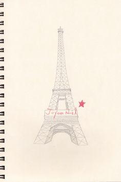 my drawing the eiffel