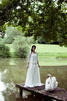 Ana Rosa- out walking Elise Hameau, Beside Still Waters, Pond Life, Swan Song, Lake Cottage, White Gardens, My Secret Garden, Swan Lake, Perfect World