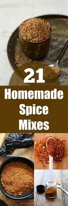21 Homemade Spice Mixes. The perfect last minute gift for the dedicated foodie. Quick & easy to make.