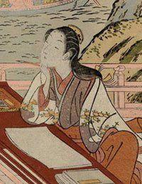 Murasaki Shikibu (978-1014) Fue un novelista japonesa, poeta y dama de honor en la corte imperial durante el período Heian . Conocido como la autora de La historia de Genji , escrito en japonés entre 1000 y 1012. Murasaki Shikibu es un apodo; su nombre real es desconocida, aunque puede ser Fujiwara Takako, pues fue mencionado en un diario de tenis 1007 como una dama de honor imperial.