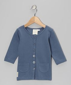 Take a look at this Go Big Blue Phoebe's Classic Cardigan - Infant, Toddler & Girls by Swanky Baby Vintage on #zulily today!