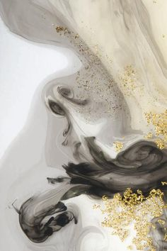 Download Abstract Black Watercolor And Gold Glitter Background for free