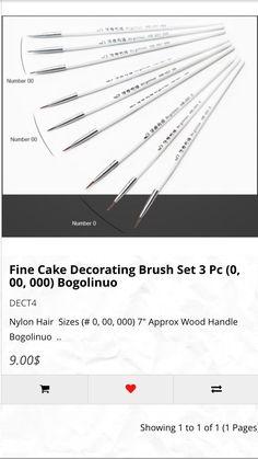 Set if 3pcs fine brushes 9$CAD available at www. Dgfcreations.ca #brushes #finebrushes #paitingbrush #thinbrushes