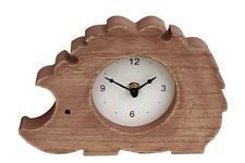 Clock Baby Hedgehog Cute Shelf Mantle Shabby Chic Wood Battery 20 cm Kids  New
