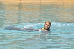 .swimming with dolphins