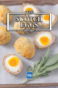 The BEST Keto Scotch Eggs - Delicious Oven Baked Recipe. This easy pork wrapped boiled eggs recipe is loaded with flavor and breaded with parmesan cheese. It's healthy, gluten free and perfect for lunch or dinner. Egg Recipes, Low Carb Recipes, Baking Recipes, Whole Food Recipes, Healthy Recipes, Lunch Recipes, Bread Recipes, Diet Recipes, Healthy Food