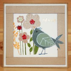 This is the gorgeous new Foam Mounted Funky Bird & Flower Set. It is December's Monthly Special for 2016. Designed by Sharon Bennett. Both stamps are backed onto EZ-mount so will adhere to any acrylic block. Card by Sally Dodger