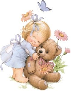 Hope you're all having a good weekend!  Tonight and Monday, let's do a little whimsical art.  How about TEDDY BEARS?