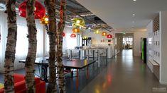 Het kantoor van mediabureau MEC, design en realisatie door Rever Interieurprojecten.