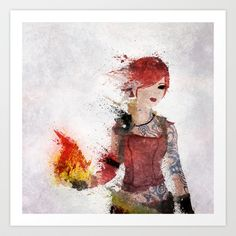 Borderlands - Lilith Art Print by Melissa Smith - $17.00