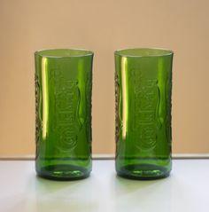 zestaw szklanek z butelek (proj. ekodizajn)