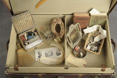 Jon Crispin's Notebook (suitcases belonging to mentally ill patients at Willard Insane Asylum- Jon Crispin has been photographing contents of approximately 400 suitcases)