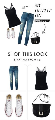 """""""MY CREATED"""" by mersy-followme ❤ liked on Polyvore featuring MICHAEL Michael Kors, Converse, A.P.C., shoes, tops, jeans and bags"""