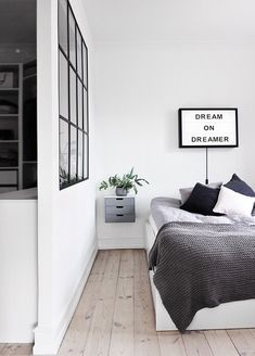 grey cool tune bedroom style . great for single man #homedecor