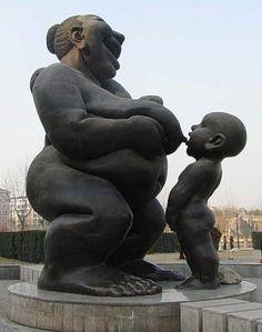 Annelik babalık anıtları Goddess Art, Sculpture Art, Art For Art Sake, Public Art, Garden Art Sculptures, Lowbrow Art, Art, Concrete Art, Unusual Art