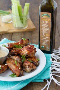 Keto Sesame Chicken Wings | Healthful Pursuit