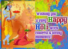 Express your with colors on Send your loved ones this beautiful card. Holi Festival Of Colours, Beginning Of Spring, Happy Holi, Online Coloring, First Love, Joy, In This Moment, Colors, Cards