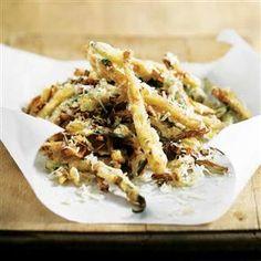 Crispy courgette chips recipe
