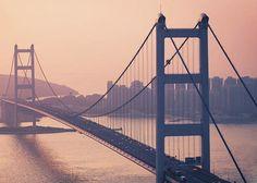 Tsing Ma Bridge:Hong Kong, China