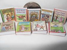 Dollhouse Miniature BOOKS LITTLE HOUSE ON THE PRAIRIE 9 book set 3/4 ...