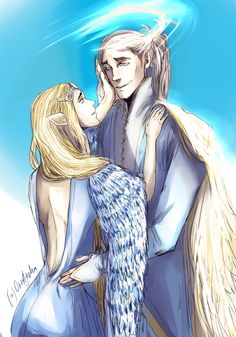 "oreageha: "" Olorin (Gandafl) & Galadriel (after tLOTR), at Valinor Sorry, Celeborn xDDD """