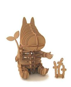 d-torso produced by AKI Co. Natural and warm touches of d-torso are well matched with laid-back Moomin family 3d Puzzles, Wooden Puzzles, Sliceform, Laser Cutter Engraver, Laser Cutter Ideas, Moomin Valley, Puzzle Art, Cnc Projects, Art Furniture