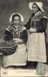 Postcard Costumes de Savoie, Janvier, Frauen in Savoyer Trachten