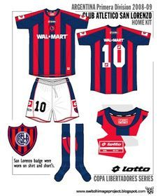 San Lorenzo of Argentina home kit for 2000s, Football Team, San, Shirts, Heart, Champs, Argentina, Clothing, Football Equipment